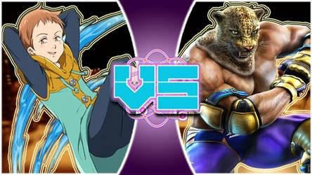 King(Seven deadly sins) vs King(Tekken) by tech-PUG2