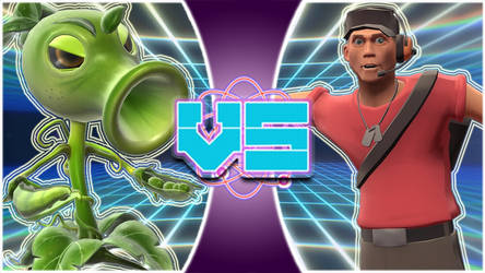 Peashooter(PVZGW) vs Scout(Team Fortress 2) by tech-PUG2