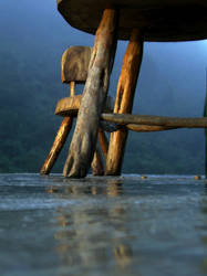 Table by the mountain... by Metalstring