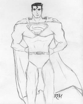 sketchy Superman