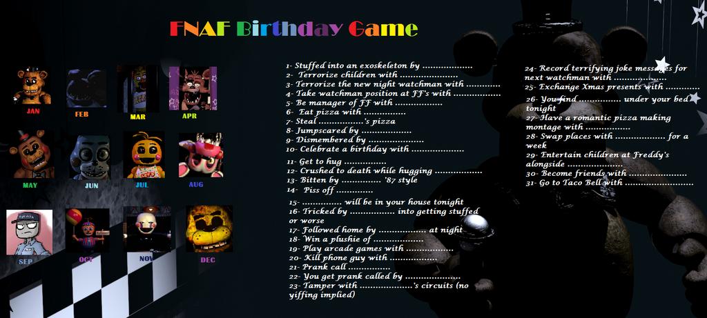 new fnaf birthday game fivenightsatfreddys