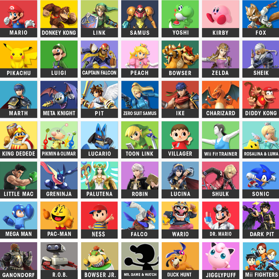 All SSB4 Character Icons by sonictom2