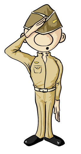 soldier clipart by OrianaCarthen
