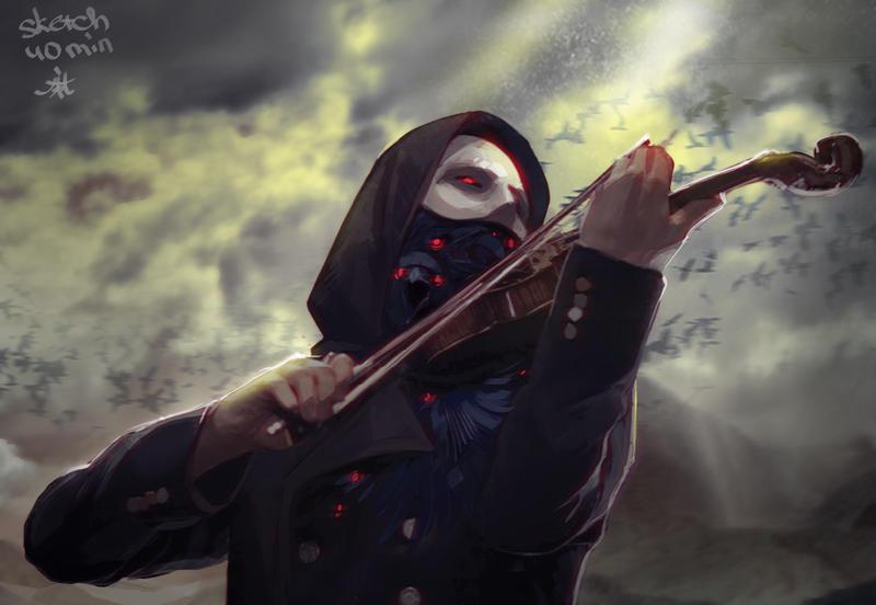 Dark violinist. by Mariko-chan94