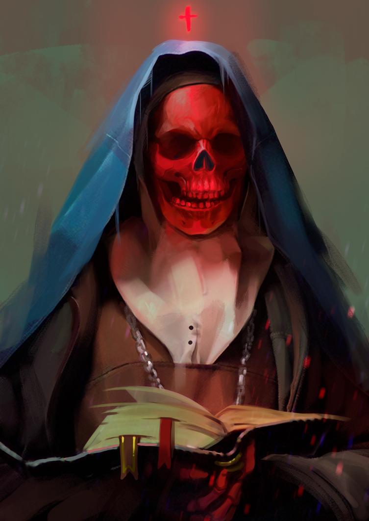 Red skull by Mariko-chan94