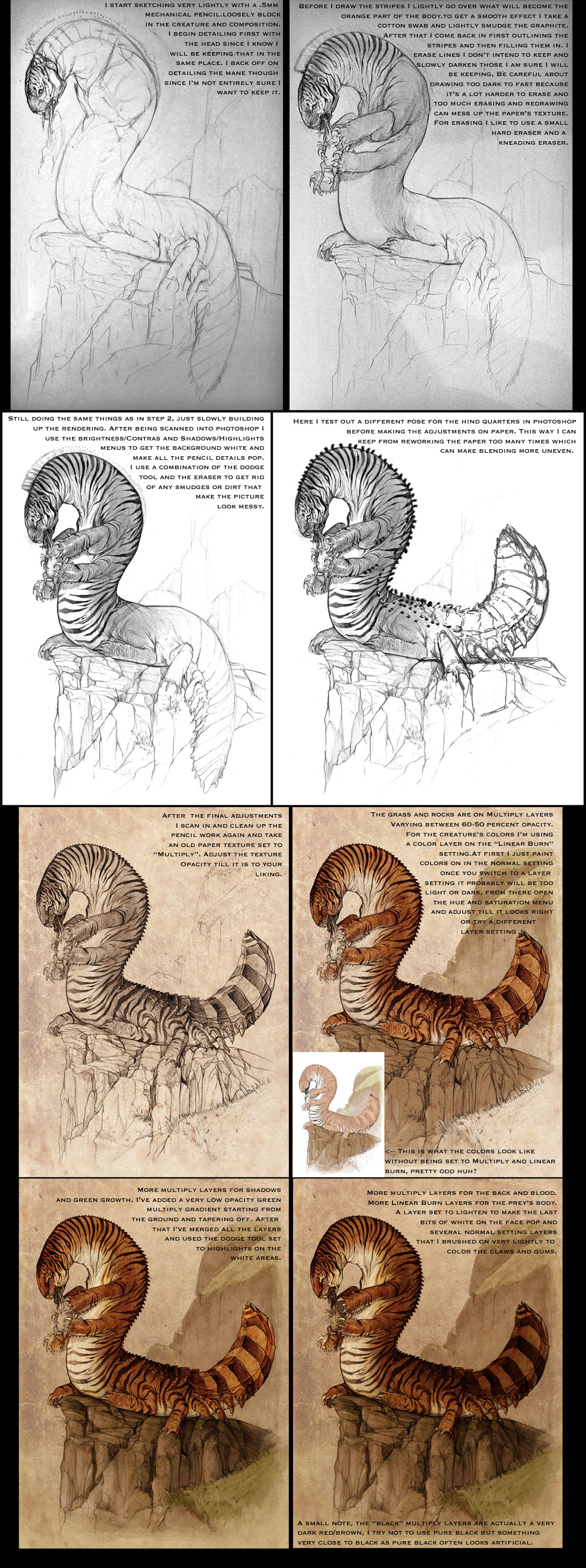 Tigerpede Tutorial by GuthrieArtwork