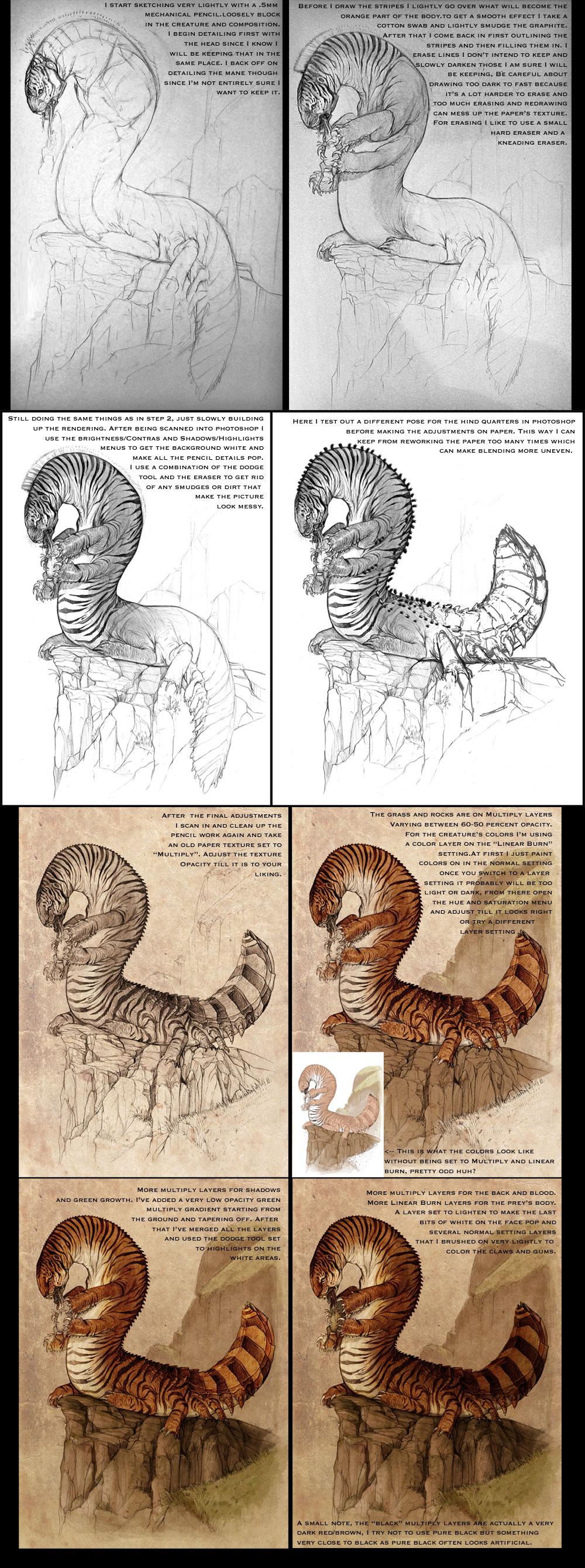 Tigerpede Tutorial by GuthrieArtwork