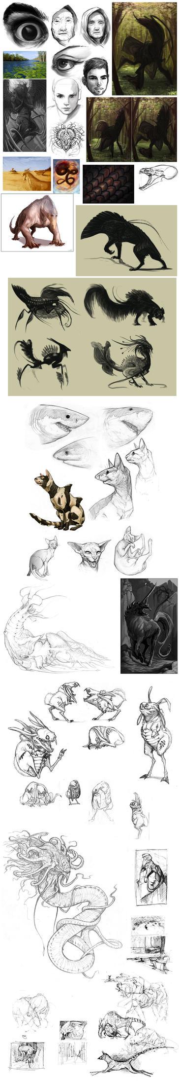 Sketch Dump by GuthrieArtwork