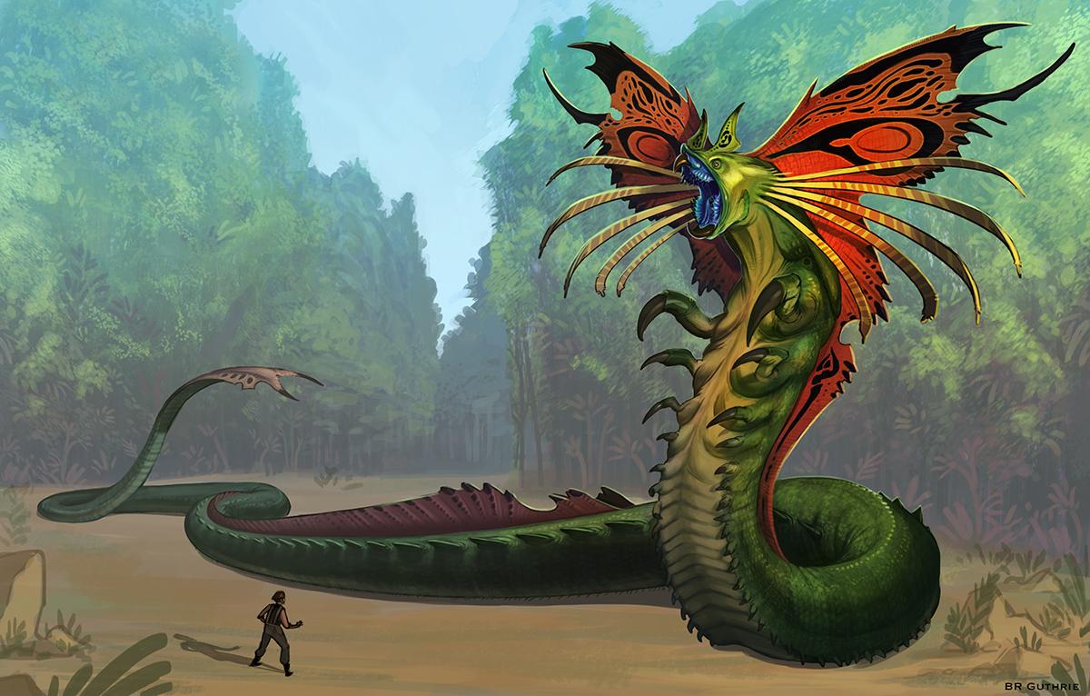 Xeno-quetzalcoatl by GuthrieArtwork on DeviantArt