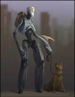 Wandering Robot by GuthrieArtwork