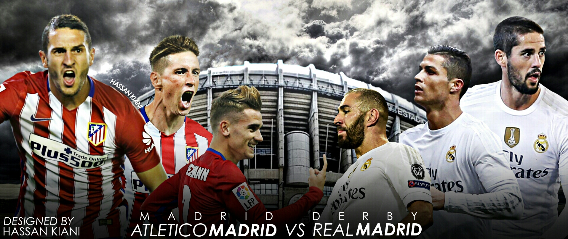 Atletico Madrid Vs Real Madrid: Atletico Madrid Vs. Real Madrid By HassanGraphics7 On