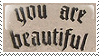 You are Beautiful Stamp by saskya