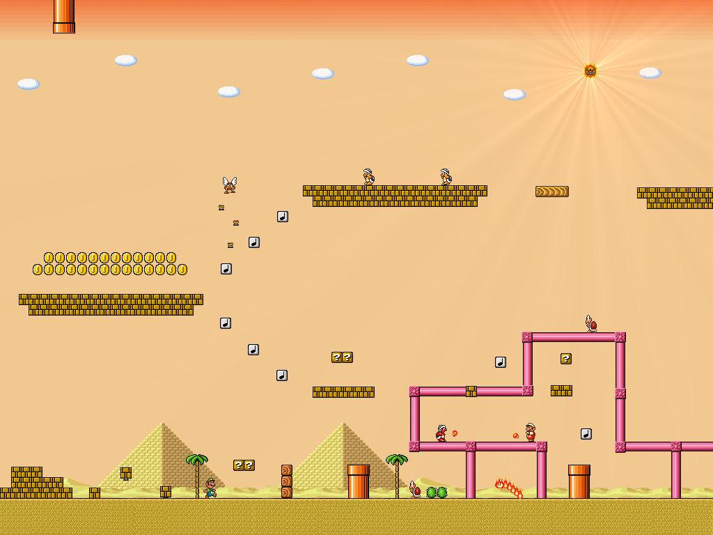 Super Mario Bros 3 Desert By Metadraxis On Deviantart