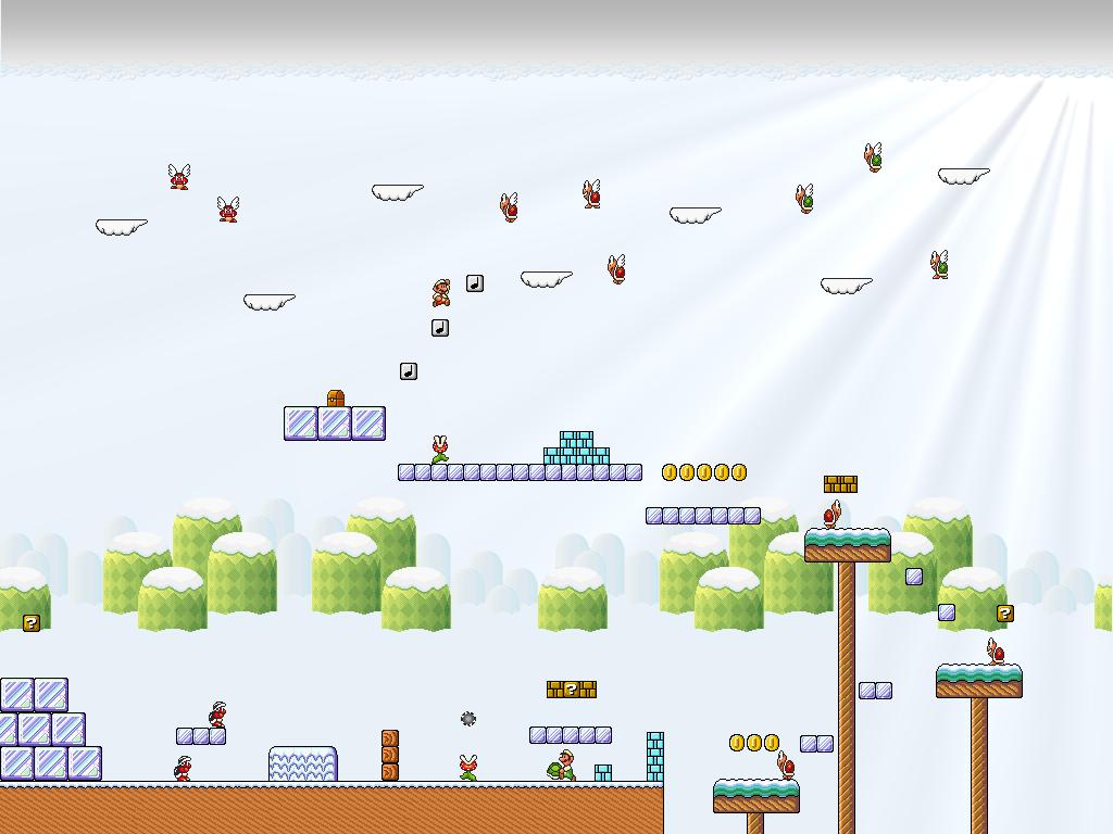 Super Mario Bros 3 Iced Land By Metadraxis On Deviantart
