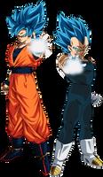 Goku Super Saiyan Blue / Vegeta Super Saiyan Blue