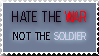 Hate the War Stamp by bishielurfer
