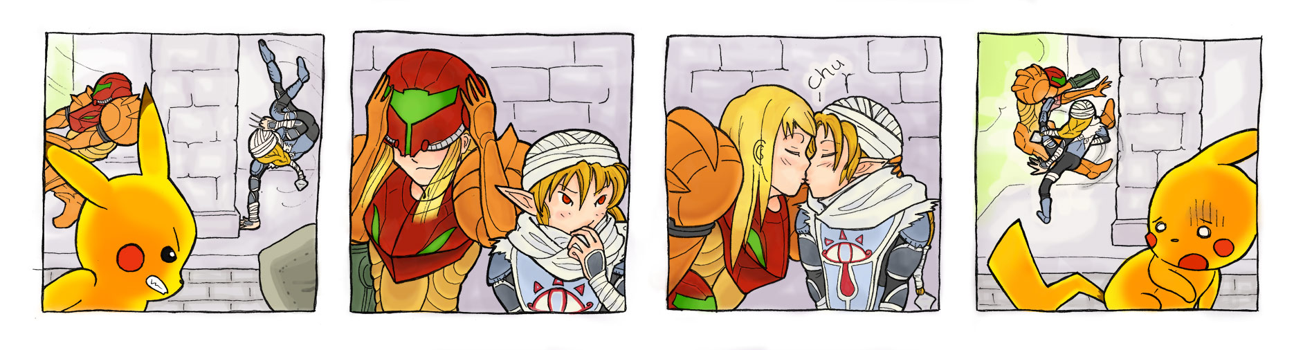 zero suit samus and link kiss - photo #18
