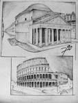 pantheon, colosseum