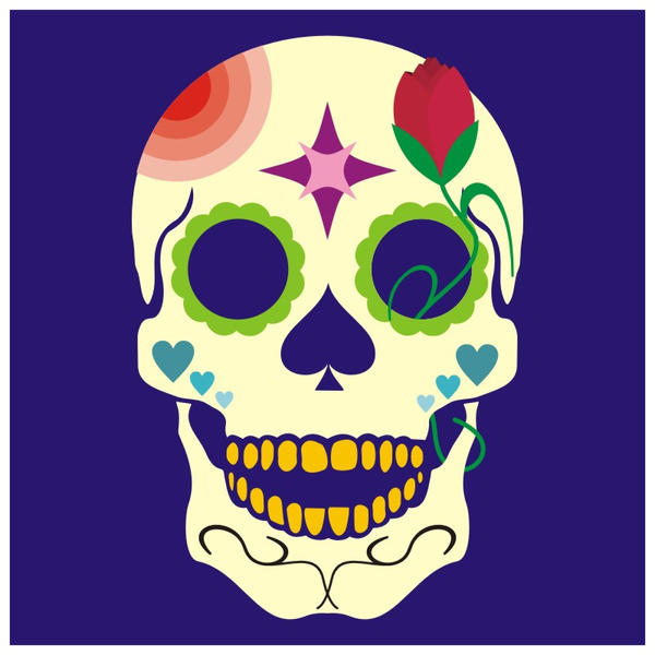 Day of the Dead Skull by IAMDG
