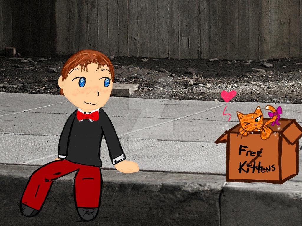 Austin and Kitty chibi by KikiHeartsHatter