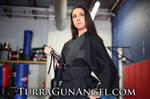 Rachel Alig Katana training for Turra : Gun Angel