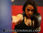 Rachel Alig Kickbox training for Turra : Gun Angel