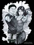 The Walking Dead: Glenn and Maggie by martheus
