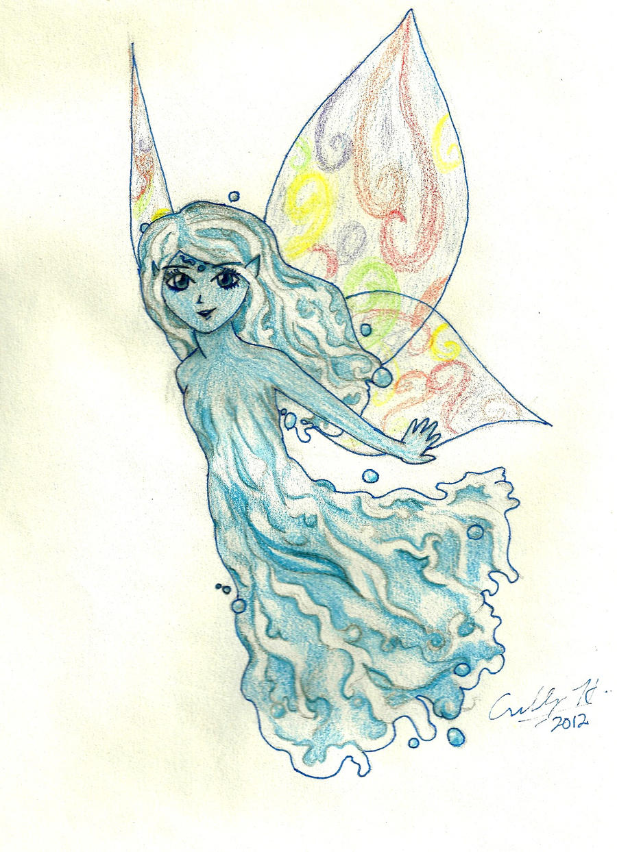 Water Fairy in Colour by moonkuu on deviantART
