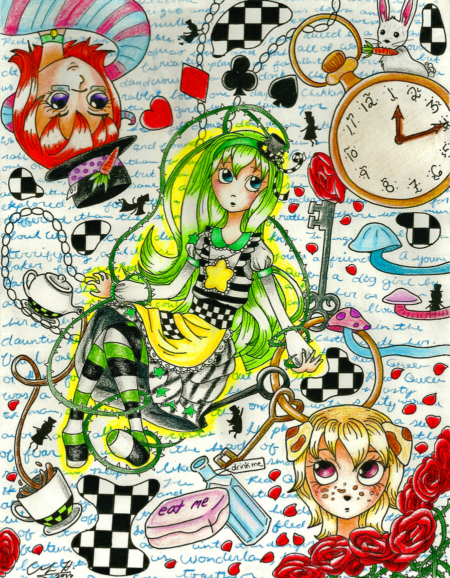 :CE: Chekkers in Wonderland by moonkuu
