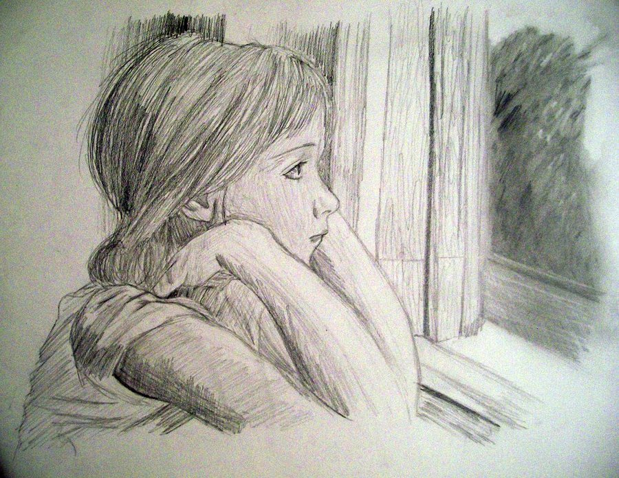 Missing someone sketch by amandamache