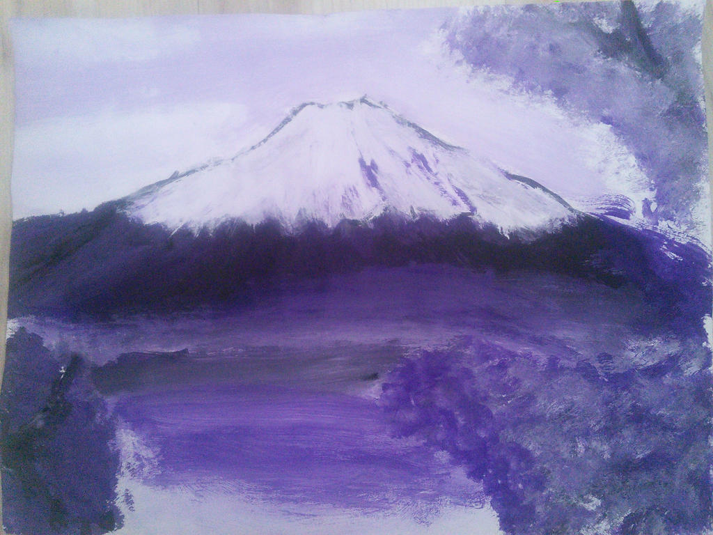 Mount Fuji painting by KillerAssassin808