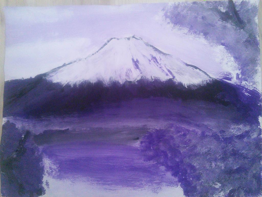 Mount Fuji painting by KillerAssassin808