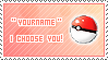 I choose you - Stamp by aries95a