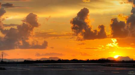 Airfield Sunset by TSDMK