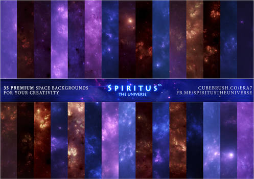 35 SPACE BACKGROUNDS - PACK 34