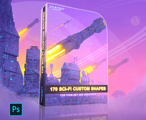 170 SCI-FI CUSTOM SHAPES - PACK 113 (Commercial)