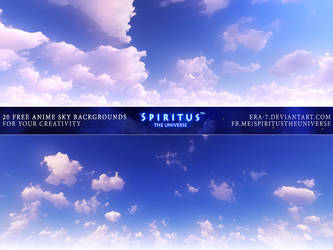 20 FREE ANIME SKY BACKGROUNDS - PACK 89 by ERA7