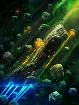 Flying Through Asteroids - Book Cover IV