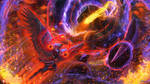 Battle with Demonic Dragon by ERA7