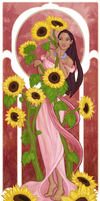 Muchahontas and the sunflowers