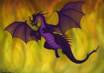 Maleficent flying by Morloth88