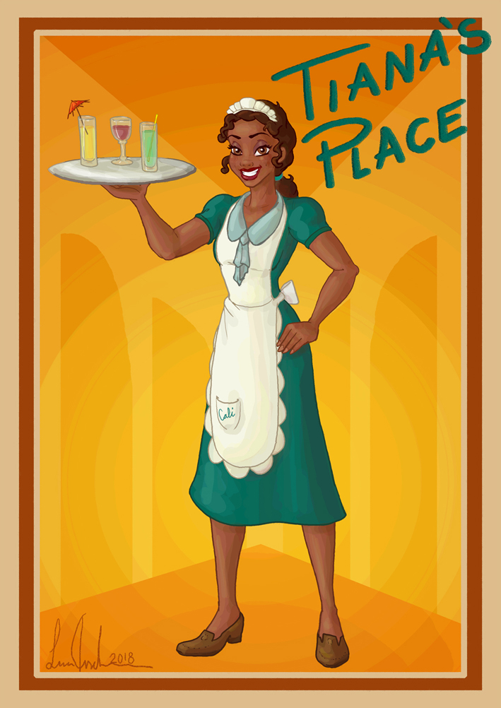 Tiana The Waitress By Morloth88 On Deviantart