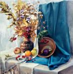 Still Life, 70x70 cm, oil painting, 2017 by 7Nataniel