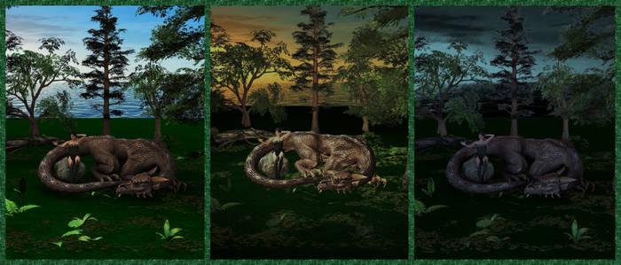 For Dragon Rider Triptych