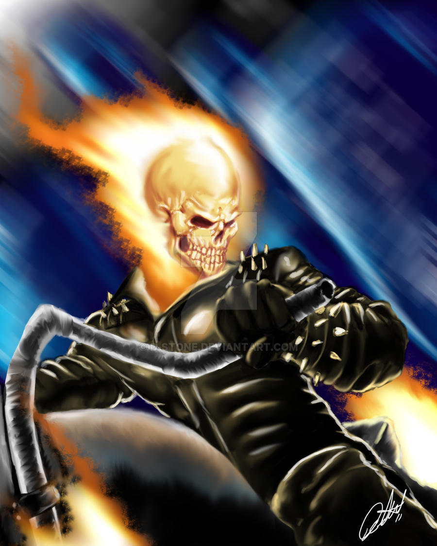 Marvel Knights: Ghost Rider #2 | Ghost rider marvel, Ghost ...  |Ghost Rider Digital Painting Photoshop