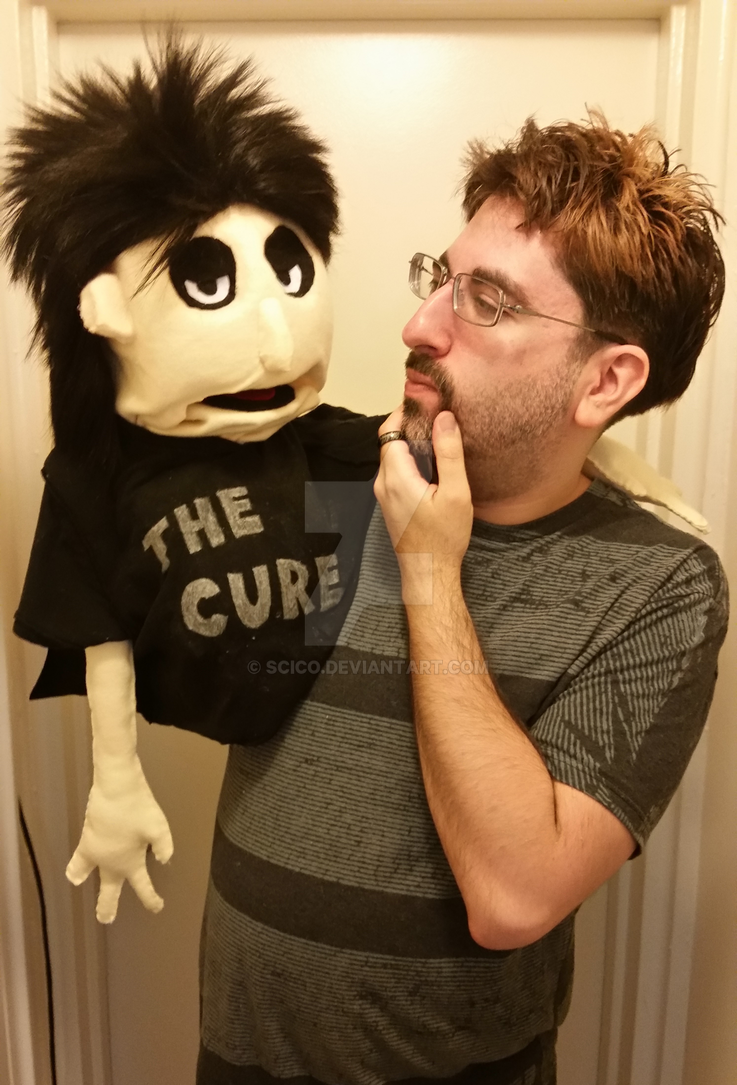 Robert Smith (The Cure) Muppet by scico