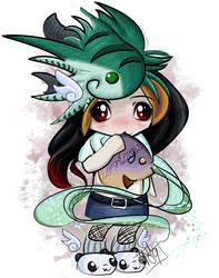 Chibi -Naki Wants Fish by tiranaki