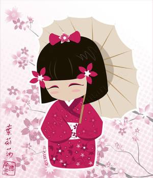 Sakura Kokeshi Doll