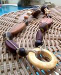 Wood Hemp Macrame Necklace