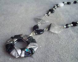 Silver and Black Necklace by tiranaki